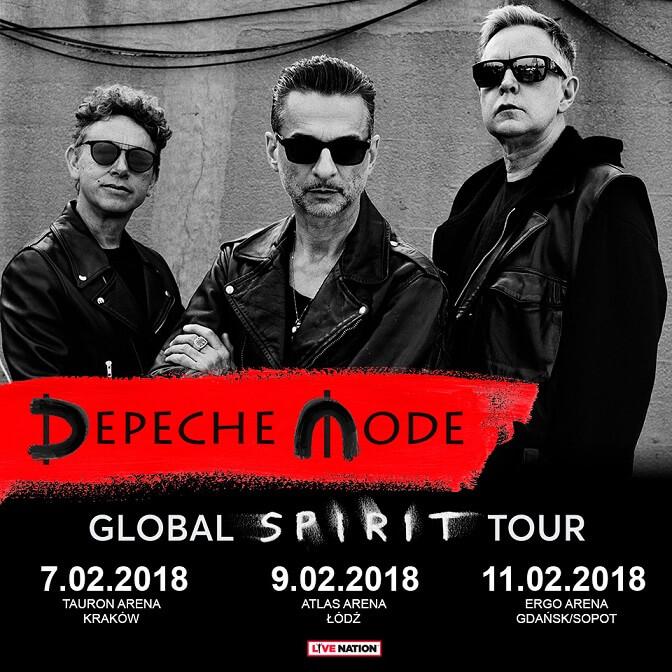 Trzy dodatkowe halowe koncerty Depeche Mode w Polsce (luty 2018)