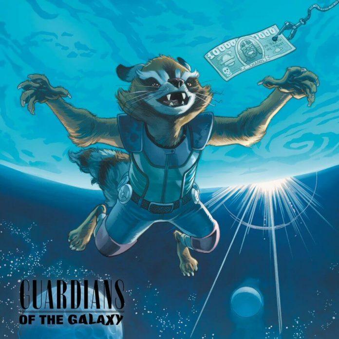 Rockowe okładki Marvela. Rocket w stylu Nirvany