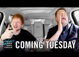 """Ed Sheeran w końcu w programie """"Carpool Karaoke"""" (WIDEO)"""