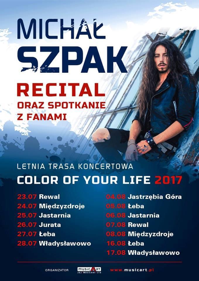 Michał Szpak - letnia trasa koncertowa oraz spotkanie z fanami! (daty, miejsca)