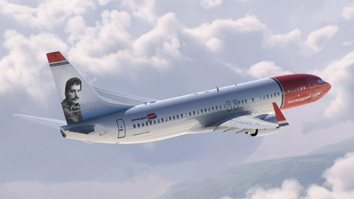 Freddie Mercury na norweskich liniach lotniczych Norwegian
