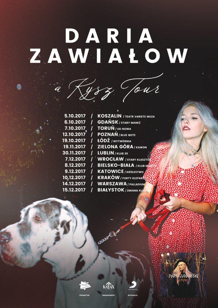 Daria Zawiałow koncerty 2017 - A Kysz! Tour to 13 klubowych koncertów: