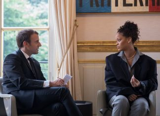 Rihanna Emmanuel Macron Brigitte Macron