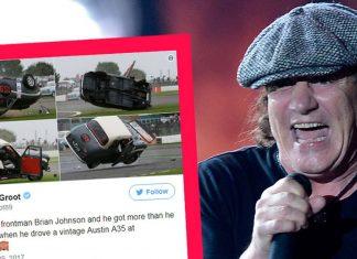 AC/DC: Brian Johnson miał wypadek. Wokalista dachował (ZDJĘCIA)
