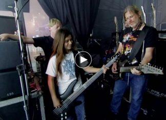 Zobacz film o 12-letnim synu Roba Trujillo grającym z zespołem Korn
