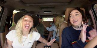 Stark, Ariana Grande, Miley Cyrus z Noah Cyrus w Carpool Karaoke