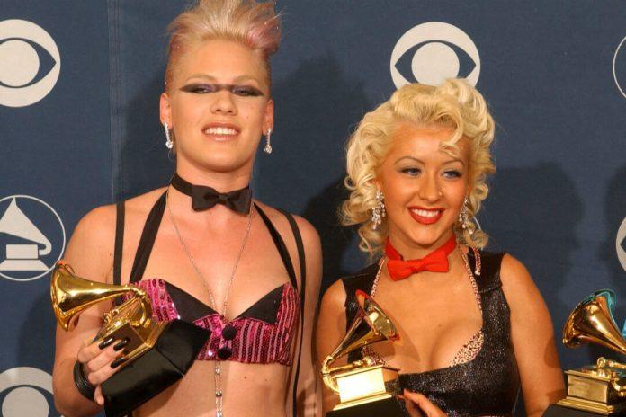 Pink i Christina Aguilera śpiewają dla weteranek wojennych