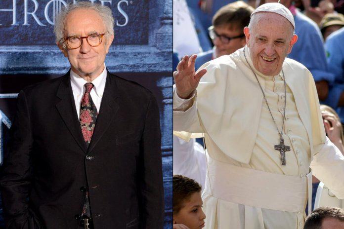 Jonathan Pryce jako Franciszek i Anthony Hopkins jako Benedykt XVI