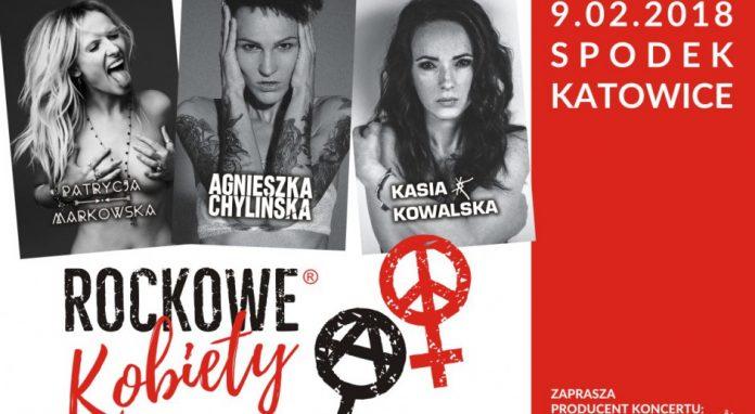 Rockowe Kobiety: Agnieszka Chylińska, Kasia Kowalska i Patrycja Markowska w Spodku