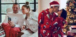 Gwiazdy w świątecznych piżamach: Jennifer Lopez i Alex Rodriguez, Ariel Winter i Levi Meaden