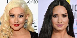 Christina Aguilera śpiewa z Demi Lovato