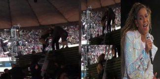 Wiemy, dlaczego Beyonce musiała schodzić po drabinie ze sceny w Warszawie