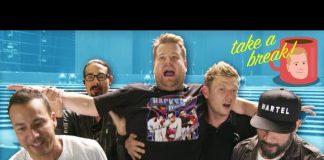 James Corden śpiewa z Backstreet Boys w Las Vegas