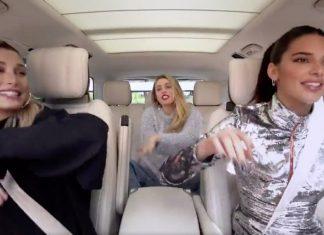 "Miley Cyrus, Kendall Jenner i Hailey Baldwin w ""Carpool Karaoke"""