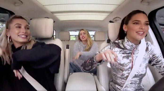 Miley Cyrus, Kendall Jenner i Hailey Baldwin w