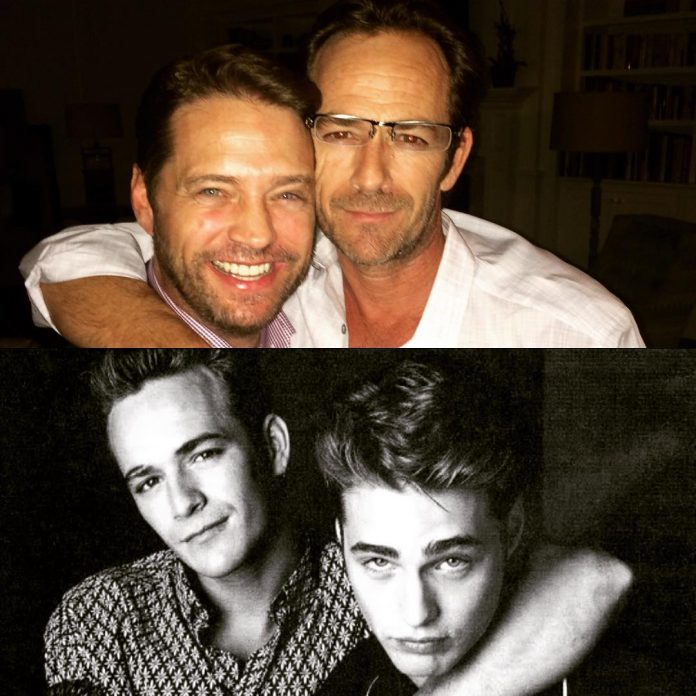 Jason Priestley i Luke Perry przyjaźnili się prawie 30 lat, od Beverly Hills 90210