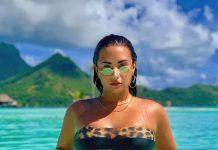 Demi Lovato kusi nowymi zdjęciami w SKĄPYM bikini z lampartami (FOTO)