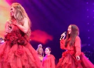 Jennifer Lopez wystąpiła na scenie ze swoją córką. Co za głos! (WIDEO)